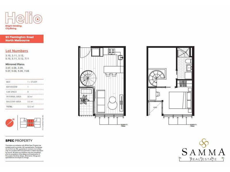 One Bedroom Spilt Level Apartment